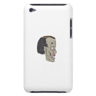 Zombie Head Side Drawing Barely There iPod Cover