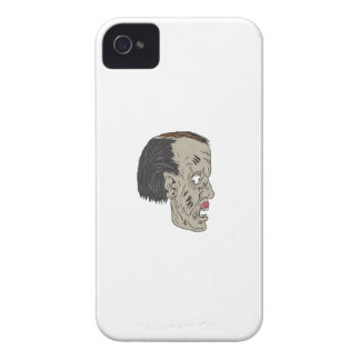 Zombie Head Side Drawing iPhone 4 Cases