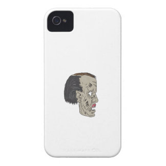 Zombie Head Side Drawing iPhone 4 Covers