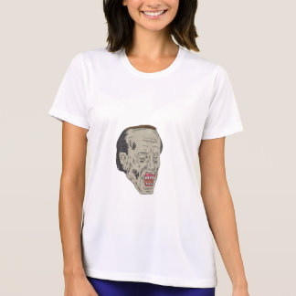 Zombie Head Three Quarter View Drawing T-Shirt