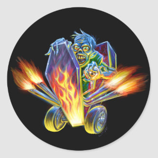 Zombie Hotrod Sticker