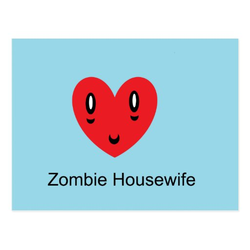 Zombie Housewife Post Cards