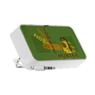 Zombie Hunter Doodle Speaker (green background)