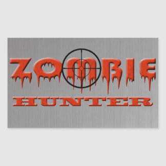 Zombie Hunter Rectangular Sticker