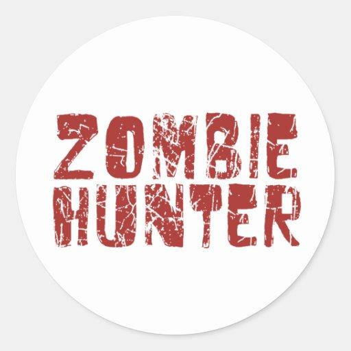 zombie hunter round sticker