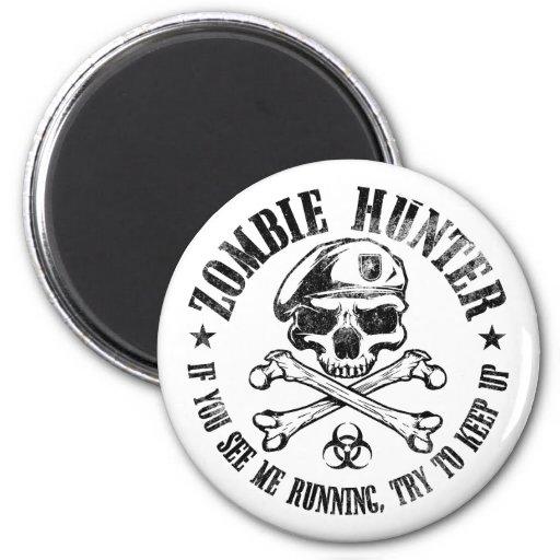 zombie hunter undead living dead refrigerator magnets