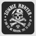zombie hunter undead living dead stickers
