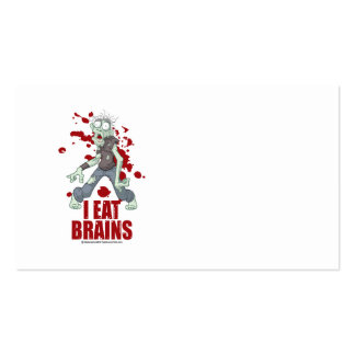 Zombie: I Eat Brains Pack Of Standard Business Cards
