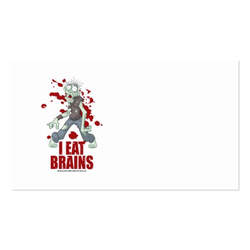 Zombie: I Eat Brains Business Card Template