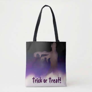 zombie in the mist tote bag