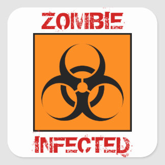 Zombie Infected Stickers