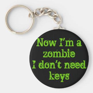 zombie irony basic round button key ring
