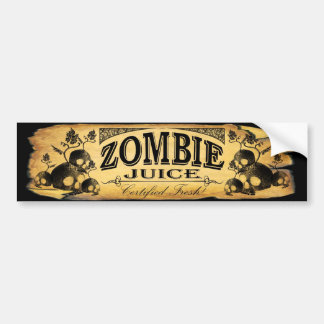 zombie juice bumper sticker