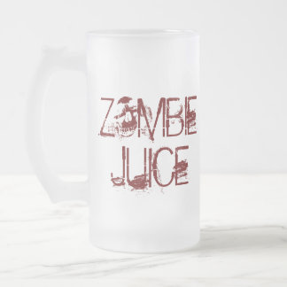 Zombie Juice Funny Halloween Props Frosted Glass Mug
