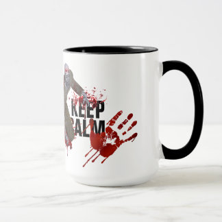 Zombie Keep Calm Ringer Mug
