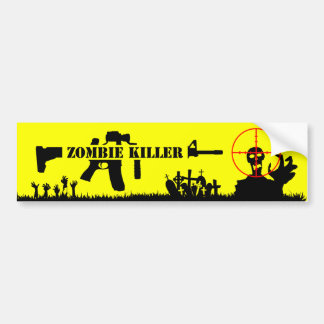 Zombie Killer Bumper Sticker