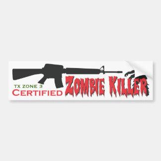 Zombie Killer- Certified Bumper Sticker