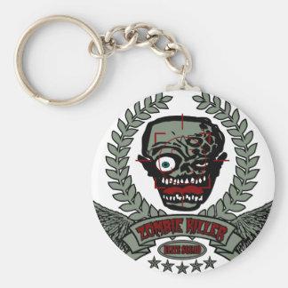 Zombie Killer Elite Squad Basic Round Button Key Ring