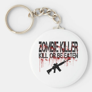 Zombie Killer Basic Round Button Key Ring