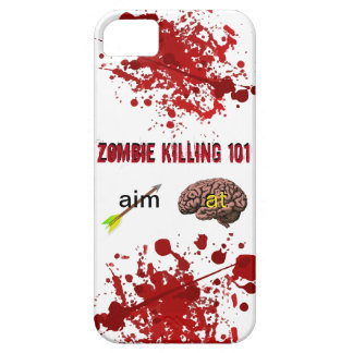 Zombie Killing 101 (aim arrow at brain) Case For The iPhone 5