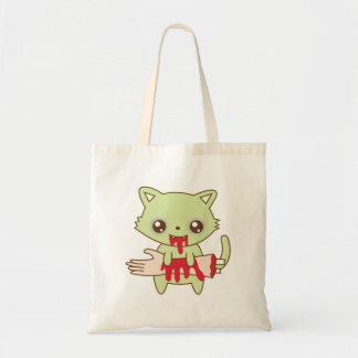 Zombie Kitten Tote Bag