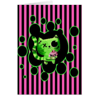 Zombie Kitty Card