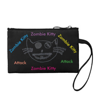 Zombie Kitty Purse Coin Wallets