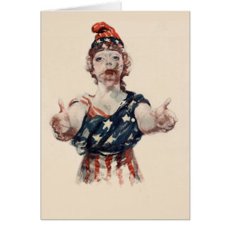 Zombie Lady Liberty Card