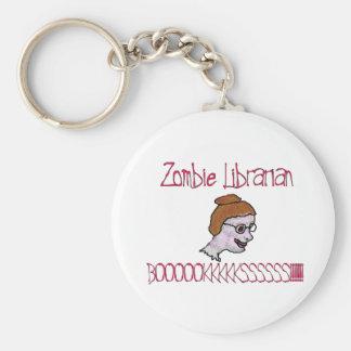 Zombie Librarian Keychain
