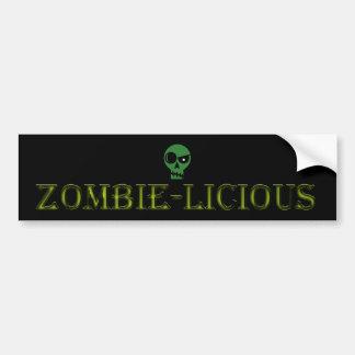 Zombie-licious bumper sticker
