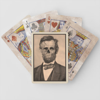 Zombie Lincoln Bicycle Playing Cards