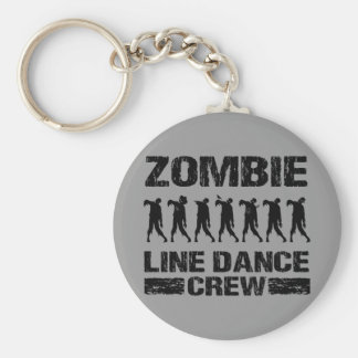 Zombie Line Dance Crew Basic Round Button Key Ring