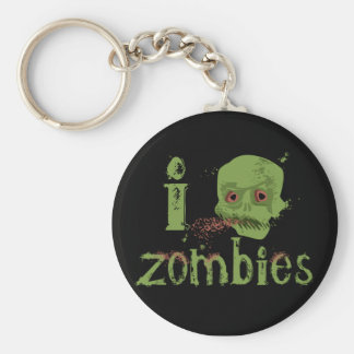 Zombie Love Basic Round Button Key Ring