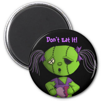 Zombie love cute dolly stitched heart maully 6 cm round magnet
