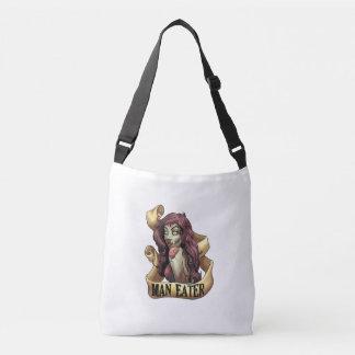 Zombie Man Eater Cross Body Bag Tote Bag