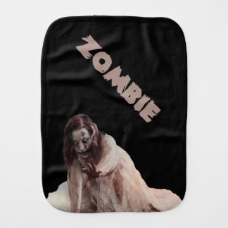 Zombie married burp cloths