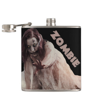 Zombie married hip flask