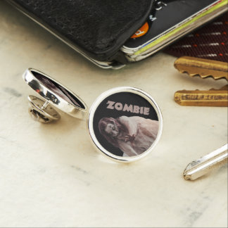 Zombie married lapel pin