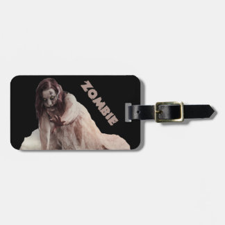 Zombie married luggage tag