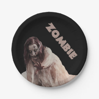 Zombie married paper plate