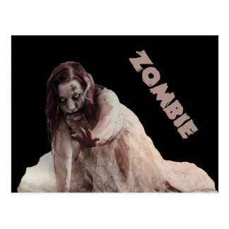 Zombie married postcard