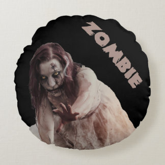 Zombie married round cushion