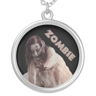 Zombie married silver plated necklace