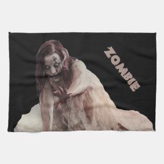 Zombie married tea towel