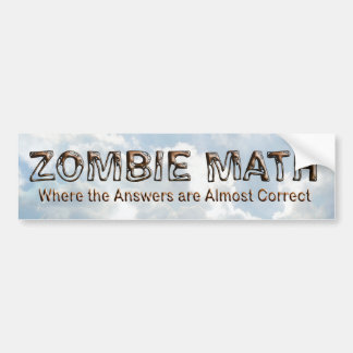 Zombie Math - Basic Bumper Sticker