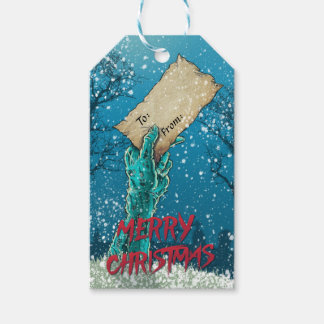 Zombie Merry Christmas Holiday Gift Tags