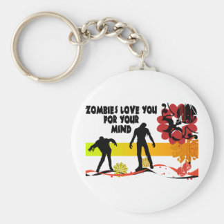 Zombie Mind Key Chain