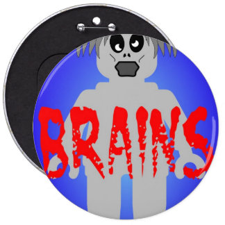 Zombie Minifig 'Brains' Button