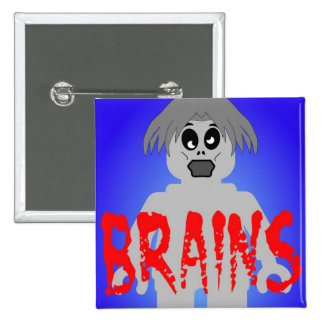 Zombie Minifig 'Brains' Pin