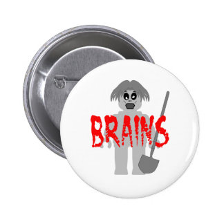 Zombie Minifig 'Brains', Pinback Button